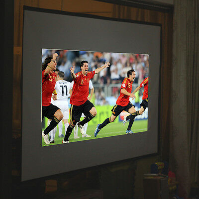 60'' 16:9 Projector Projection Fabric Matte Screen Remote Control Home Cinema UK