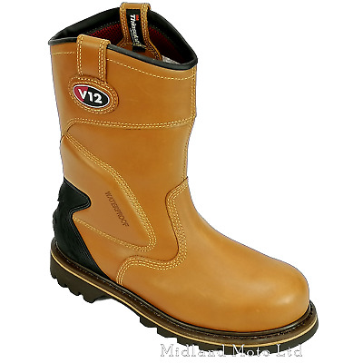 V12 Tomahawk Steel Toe Cap Waterproof Leather Rigger Safety Boots V1250