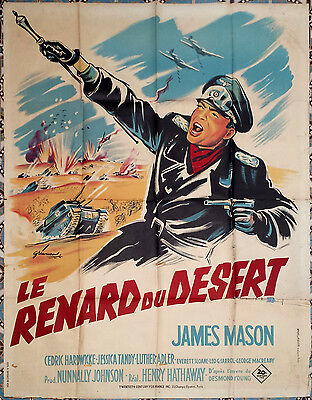 1952 THE DESERT FOX James Mason Henry Hathaway WWII 47x63 French movie poster