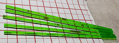 "5 Clear Green 1/4"" Diameter 12"" Inch Long Acrylic Plexiglass Plastic Color Rod"