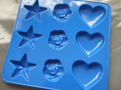 Silicone Mould Small Heart, Star And Rose Tray/Pan- Chocolate, Wax Melts etc