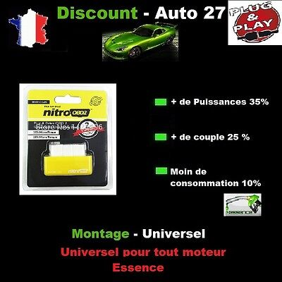 Boitier Additionnel Obd Chip Tuning Puce Essence Smart Roadster 0.7 0L7 101 Cv
