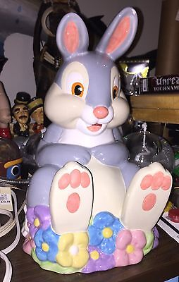 Very Rare Retired Disney Thumper Cookie Jar Bambi's Friend Collectable Free Ship