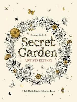 NEW Secret Garden: Artist's Edition By Johanna Basford Paperback Free Shipping