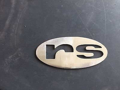"Plasma cut oval ""rs"" logo Metal Man Cave/Garage Wall Art"
