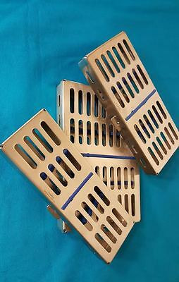 Set OF 3 STERILIZATION CASSETTE Surgical DENTAL,MEDICAL LAB.Instrument (5,7&10)