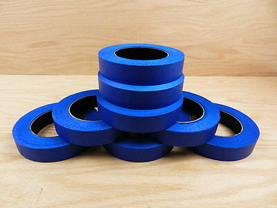 "8 QUALITY USA MADE 1"" Blue Painters Masking Trim Edge Tape 180' 60 yd roll"