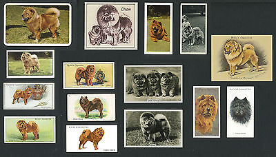 15 Original Vintage Chow Chow Collectable Dog Cigarette & Trade Cards