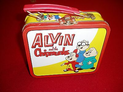 """""""ALVIN and the CHIPMUNKS mini metal LUNCH/SNACK  BOX"""","""