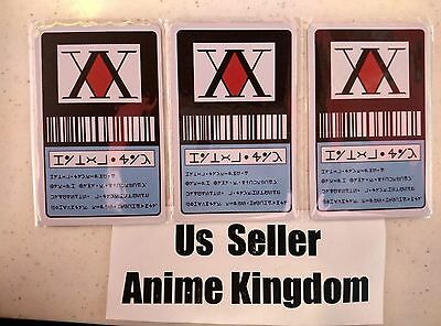USA Seller Cosplay 3 X Hunter x Hunter 1 Star Hunter License Card  GON FREECSS