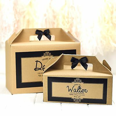 Personalised Wedding Gift Box Favour | Kraft Ornate | Children's Activity Bag