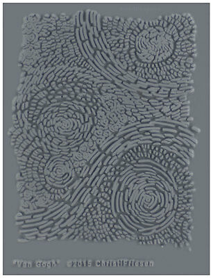 Christi Friesen Image Texture Stamp Mold Sheet Surface Imprinting Van Gogh