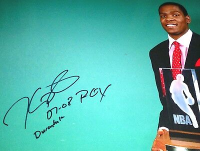"Kevin Durant ""0708 ROY & Durantula"" Inscription Signature 16x20 Trophy Autograph"