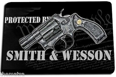 Protected By Smith & Wesson Second Amendment Door Mat Rug Carpet Usa Made