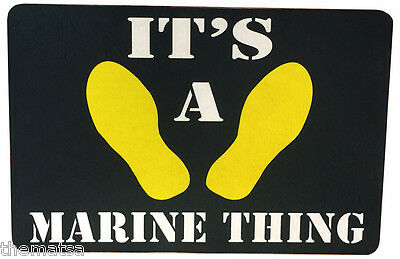It's A Marine Corps Thing Those Yellow Footprints Door Mat Rug Carpet Usa Made