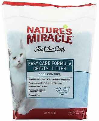 Nature's Miracle Just for Cats Easy Care Crystal Litter,8-Pound(P-5370)ideal CAO