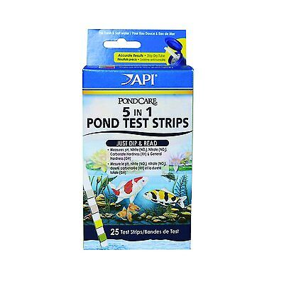 API Pondcare 5-in-1 Pond Test Strips (164F)Highly precise color charts BRAND NEW