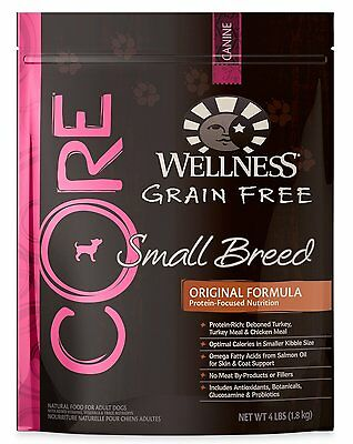 Wellness CORE Natural Grain Free Dry Dog Food(88417) 4-Pound Bag,Small Breed DTF