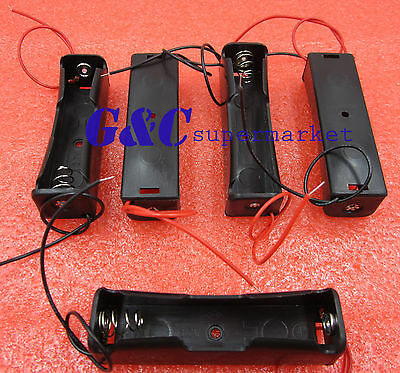5pcs Plastic Battery Holder Storage Box Case for 1x 18650 Rechargeable Battery