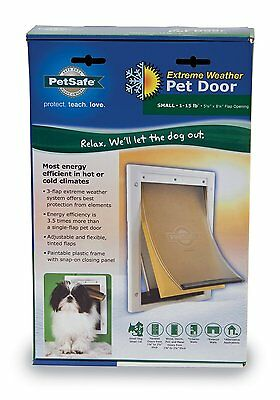 PetSafe Extreme Weather Door, White Small Unique 3-flap (PPA00-10984) BRANDNEW