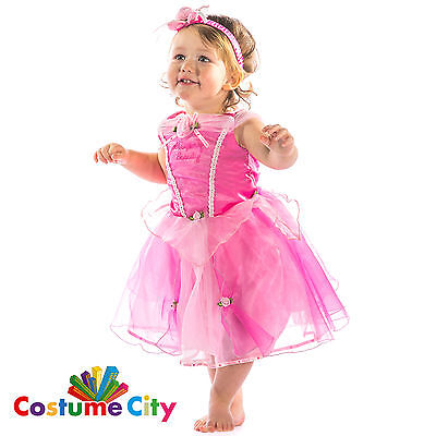 Babys Toddlers Official Disney Sleeping Beauty Fancy Dress Party Costume