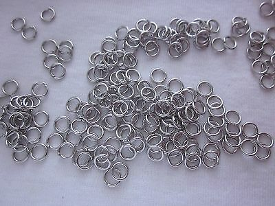 100 Silver Tone 6x1mm Jump Rings #3121 Combine Post-See Listing