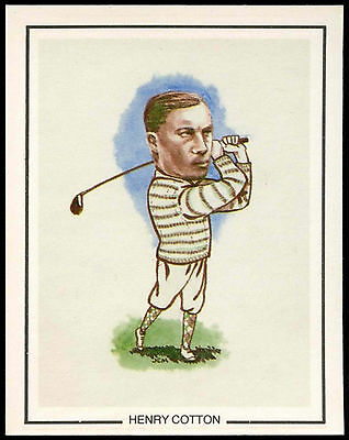 Hentry Cotton #6 Golfing Greats Golf Card (C67)