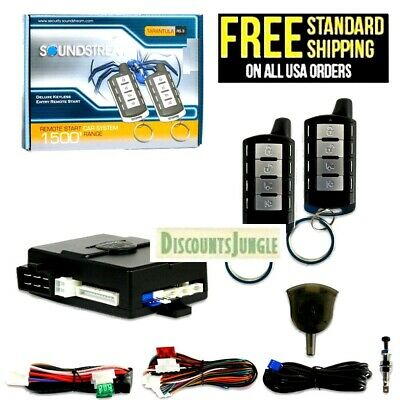 Soundstream Rs.3 1-Way Remote Start System And Keyless Entry Only--Brand New--