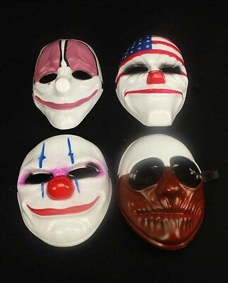 Payday 2 Chains Dallas Wolf Hoxton Hockey Mask Fancy Dress Prop Halloween Mask