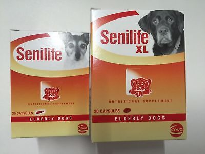 Senilife Brain Function support for Elderly Dogs Supplement aging Pet 30 Caps