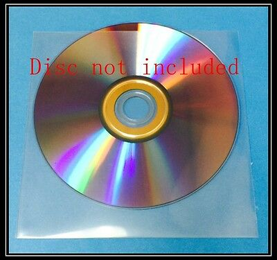 100 Premium Clear CPP Plastic CD DVD Sleeves Bag without no Flap  (120 Microns)