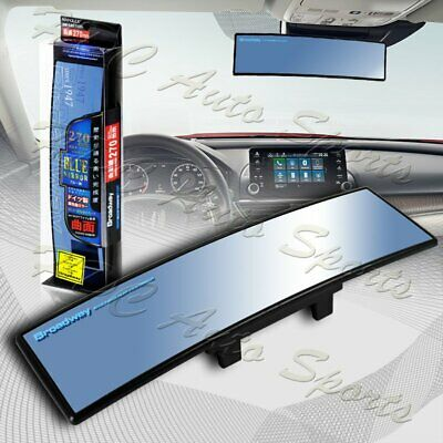 Universal Broadway 270MM Wide Convex Interior Clip On Rear View Blue Tint Mirror