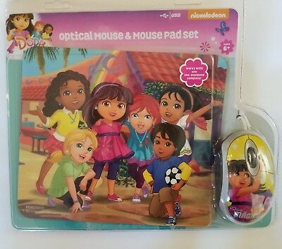 Dora the Explorer Mouse and Mousepad Kit Optical