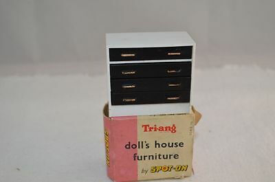 SPOT ONn1010 Dolls House furniture Chest of Drawers 50s 60s packaging