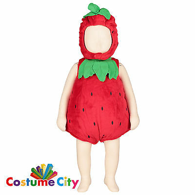 Babys Toddlers Cute Strawberry Fancy Dress Party Halloween Costume & Hat