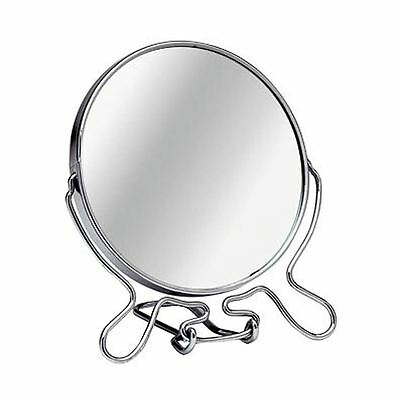 Shaving Mirror, Large Chrome Frame With Stand, Magnifying Option