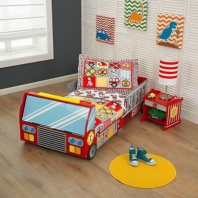 Fire Engine Bed Bedroom Kids Children Single Boys Red