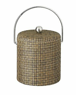 Kraftware Woven 3 Qt. Ice Bucket with Dome Fabric Lid