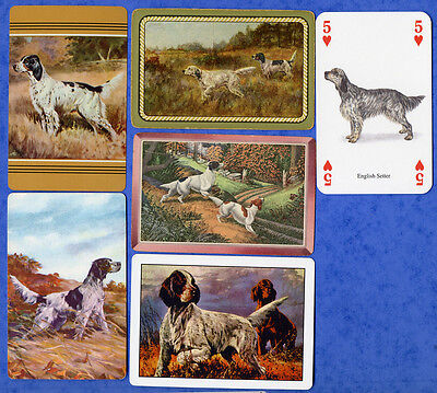 English Setter Dog Playing Swap Single Cards Great Gift When framed