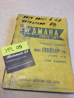 Yamaha parts list Chappy LB50IIAP  LB 50 LB50 type 1F1 1976 catalogue pièces