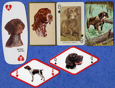 German Shorthaired Pointer Dog Playing Swap Single Cards Great Gift When framed