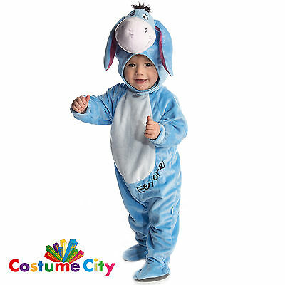 Babys Toddlers Official Eeyore All-in-One Winnie the Pooh Fancy Dress Costume