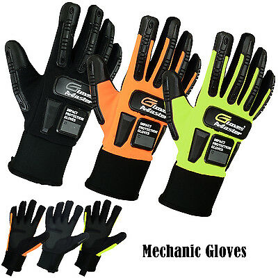 Work Safety Gloves For Mechanic-Garages-Cycling & Motorbike Gloves Size M to 2XL