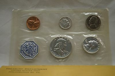 1963 Philadelphia Mint Silver Proof Coin Set - 5 COINS