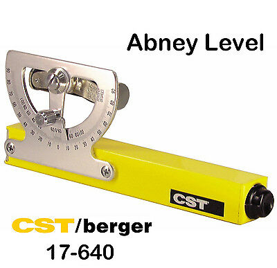 New CST/Berger 17-640 Grade Reading Abney Hand Level with Priority Mail