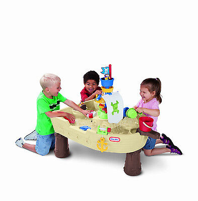 Little Tikes Anchors Away Pirate Ship Kids Fun Water Sand Yard Boat Toy New