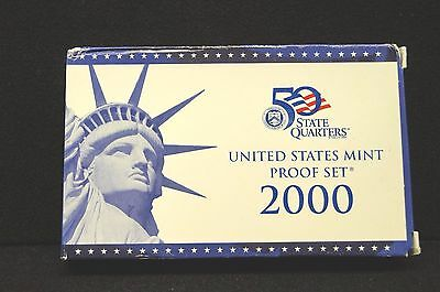 2000 US Mint 10-Coin Proof Set w/ State Quarters