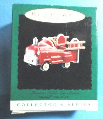 "Hallmark ""Murray Fire Truck""  Miniature Ornament 1996"