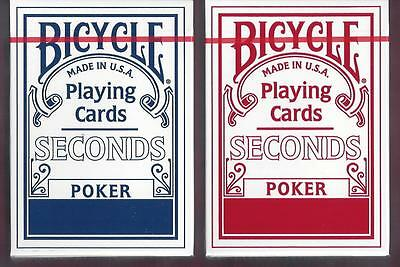 12 DECKS Bicycle Seconds (red-blue) playing cards