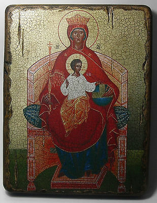 Handmade copy ancient icon ORTHODOX CHURCH ICON Mother of God Reigning 38L